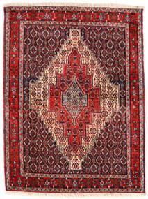 Senneh Teppich  123X163 Echter Orientalischer Handgeknüpfter Dunkelbraun/Dunkelrot (Wolle, Persien/Iran)