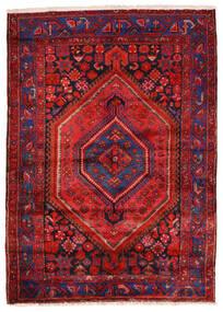 Zanjan Teppich 140X200 Echter Orientalischer Handgeknüpfter Dunkelrot/Rost/Rot (Wolle, Persien/Iran)