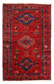 Hamadan Teppich 128X204 Echter Orientalischer Handgeknüpfter Dunkelbraun/Rost/Rot (Wolle, Persien/Iran)