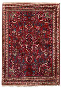 Bidjar Teppich 155X209 Echter Orientalischer Handgeknüpfter Dunkelrot/Dunkelbraun (Wolle, Persien/Iran)