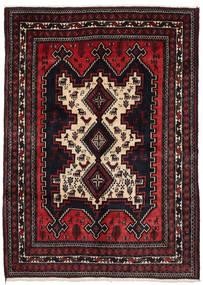Afshar Teppich 156X215 Echter Orientalischer Handgeknüpfter Dunkelrot (Wolle, Persien/Iran)