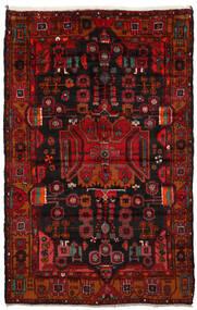 Nahavand Teppich 165X260 Echter Orientalischer Handgeknüpfter Dunkelbraun/Dunkelrot/Rost/Rot (Wolle, Persien/Iran)