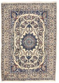 Nain Teppich 162X228 Echter Orientalischer Handgeknüpfter Hellgrau/Beige (Wolle, Persien/Iran)