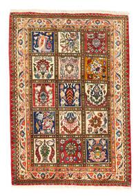 Bachtiar Collectible Teppich 105X150 Echter Orientalischer Handgeknüpfter Rot/Dunkelgrau (Wolle, Persien/Iran)