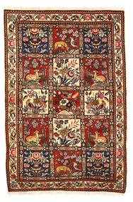 Bachtiar Collectible Teppich  115X170 Echter Orientalischer Handgeknüpfter Dunkelbraun/Weiß/Creme (Wolle, Persien/Iran)