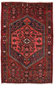 Zanjan Teppich  127X198 Echter Orientalischer Handgeknüpfter Dunkelrot/Schwartz (Wolle, Persien/Iran)