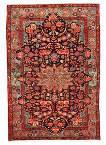 Nahavand Old Teppich 158X230 Echter Orientalischer Handgeknüpfter Dunkelrot/Rost/Rot (Wolle, Persien/Iran)