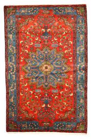 Nahavand Old Teppich  158X246 Echter Orientalischer Handgeknüpfter Dunkelrot/Hellgrau (Wolle, Persien/Iran)