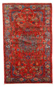 Nahavand Old Teppich  152X245 Echter Orientalischer Handgeknüpfter Dunkelrot/Rot (Wolle, Persien/Iran)
