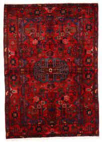 Nahavand Old Teppich  162X243 Echter Orientalischer Handgeknüpfter Dunkelrot/Rost/Rot (Wolle, Persien/Iran)