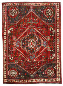 Shiraz Teppich 198X274 Echter Orientalischer Handgeknüpfter Dunkelbraun/Dunkelrot (Wolle, Persien/Iran)