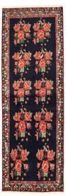 Afshar/Sirjan Teppich 83X247 Echter Orientalischer Handgeknüpfter Läufer Schwartz/Rost/Rot (Wolle, Persien/Iran)