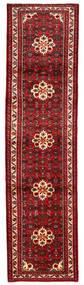 Hosseinabad Teppich  83X267 Echter Orientalischer Handgeknüpfter Läufer Dunkelrot/Rot (Wolle, Persien/Iran)