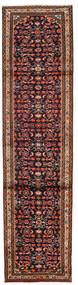 Hamadan Teppich 76X300 Echter Orientalischer Handgeknüpfter Läufer Dunkelbraun/Dunkelrot (Wolle, Persien/Iran)