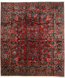 Sarough Teppich 420X485 Echter Orientalischer Handgeknüpfter Dunkelrot/Dunkelbraun Großer (Wolle, Persien/Iran)