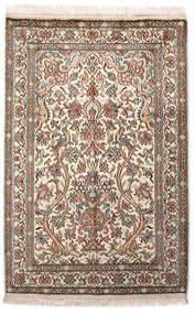 Kaschmir Reine Seide Teppich  64X96 Echter Orientalischer Handgeknüpfter Hellgrau/Beige (Seide, Indien)