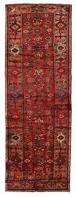 Hamadan Teppich  107X311 Echter Orientalischer Handgeknüpfter Läufer Dunkelrot/Rost/Rot (Wolle, Persien/Iran)