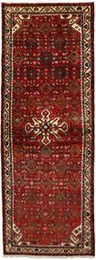 Hosseinabad Teppich  74X207 Echter Orientalischer Handgeknüpfter Läufer Dunkelrot/Dunkelbraun (Wolle, Persien/Iran)
