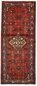 Hamadan Teppich  82X197 Echter Orientalischer Handgeknüpfter Läufer Dunkelrot/Dunkelbraun (Wolle, Persien/Iran)
