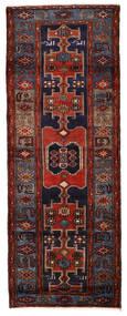 Hamadan Teppich  109X290 Echter Orientalischer Handgeknüpfter Läufer Dunkelbraun/Dunkelrot (Wolle, Persien/Iran)