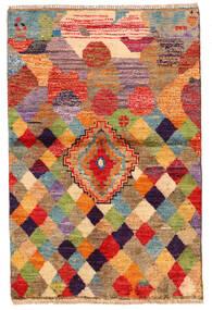 Moroccan Berber - Afghanistan Teppich  85X130 Echter Moderner Handgeknüpfter Dunkelrot/Rot (Wolle, Afghanistan)