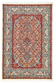 Lillian Teppich 60X92 Echter Orientalischer Handgeknüpfter Beige/Dunkelbraun (Wolle, Persien/Iran)