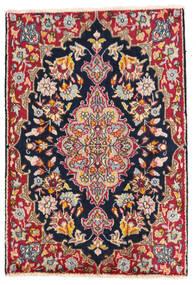 Kerman Teppich 58X85 Echter Orientalischer Handgeknüpfter Dunkelgrau/Weiß/Creme (Wolle, Persien/Iran)