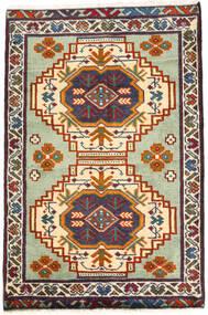 Turkaman Teppich 59X89 Echter Orientalischer Handgeknüpfter Dunkelgrau/Beige (Wolle, Persien/Iran)