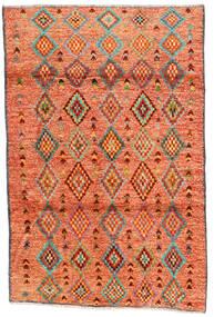 Moroccan Berber - Afghanistan Teppich  121X182 Echter Moderner Handgeknüpfter Orange/Rot/Hellbraun (Wolle, Afghanistan)