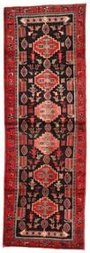 Hamadan Teppich  104X306 Echter Orientalischer Handgeknüpfter Läufer Dunkelrot/Rost/Rot (Wolle, Persien/Iran)