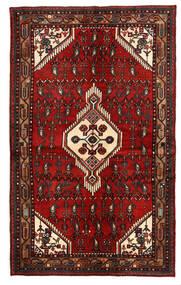 Hamadan Teppich  135X221 Echter Orientalischer Handgeknüpfter Dunkelrot/Dunkelbraun (Wolle, Persien/Iran)
