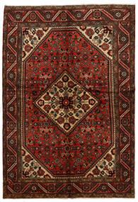 Hosseinabad Teppich  151X219 Echter Orientalischer Handgeknüpfter Dunkelbraun/Dunkelrot (Wolle, Persien/Iran)