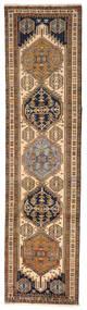 Ardebil Teppich  82X315 Echter Orientalischer Handgeknüpfter Läufer Braun/Dunkelbraun (Wolle, Persien/Iran)