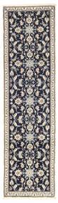 Nain Teppich  79X286 Echter Orientalischer Handgeknüpfter Läufer Hellgrau/Dunkelblau (Wolle, Persien/Iran)