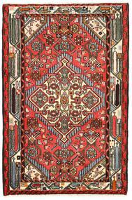 Hamadan Teppich 82X125 Echter Orientalischer Handgeknüpfter Schwartz/Dunkelbraun (Wolle, Persien/Iran)