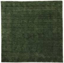 Handloom Gabba - Waldgrün Teppich  200X200 Moderner Quadratisch Dunkelgrün (Wolle, Indien)