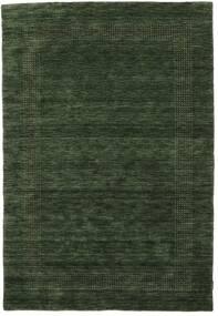 Handloom Gabba - Waldgrün Teppich  140X200 Moderner Dunkelgrün (Wolle, Indien)