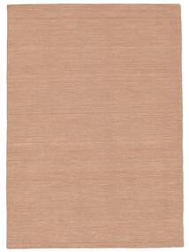 Kelim Loom - Dusty Rose Teppich  160X230 Echter Moderner Handgewebter Rot/Hellrosa (Wolle, Indien)