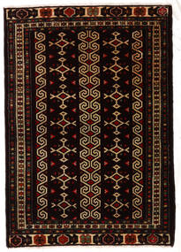 Turkaman Teppich 81X116 Echter Orientalischer Handgeknüpfter Schwartz/Dunkelbraun (Wolle, Persien/Iran)