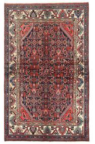 Hamadan Teppich  130X212 Echter Orientalischer Handgeknüpfter Dunkelrot/Dunkelbraun (Wolle, Persien/Iran)
