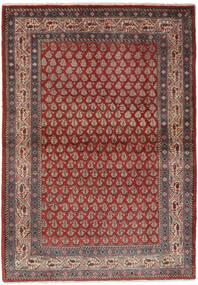 Sarough Mir Teppich 106X158 Echter Orientalischer Handgeknüpfter Dunkelbraun/Schwartz (Wolle, Persien/Iran)