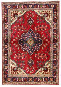 Täbriz Teppich  98X142 Echter Orientalischer Handgeknüpfter Dunkelrot/Dunkellila (Wolle, Persien/Iran)
