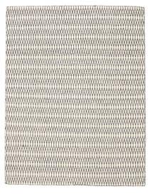 Kelim Long Stitch - Cream/Schwarz Teppich  190X240 Echter Moderner Handgewebter Hellgrau/Beige (Wolle, Indien)