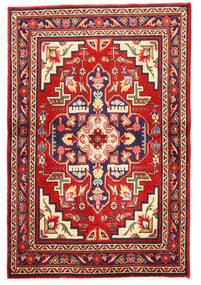 Täbriz Teppich  97X148 Echter Orientalischer Handgeknüpfter Dunkellila/Rost/Rot (Wolle, Persien/Iran)