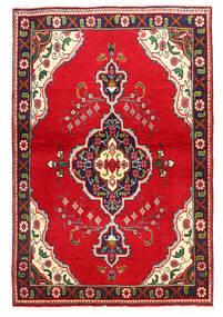 Täbriz Teppich  100X149 Echter Orientalischer Handgeknüpfter Rot/Dunkellila (Wolle, Persien/Iran)