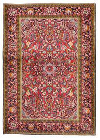 Keshan Teppich  103X147 Echter Orientalischer Handgeknüpfter Dunkelrot/Dunkellila (Wolle, Persien/Iran)