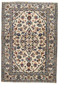 Keshan Teppich  103X146 Echter Orientalischer Handgeknüpfter Beige/Schwartz/Hellgrau (Wolle, Persien/Iran)