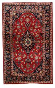 Keshan Teppich  94X155 Echter Orientalischer Handgeknüpfter Dunkelbraun/Dunkelrot (Wolle, Persien/Iran)