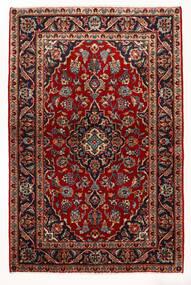 Keshan Teppich  97X147 Echter Orientalischer Handgeknüpfter Dunkelrot/Beige (Wolle, Persien/Iran)