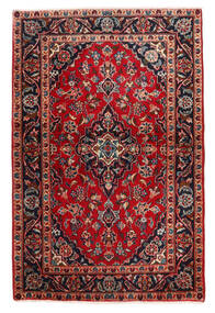 Keshan Teppich  98X148 Echter Orientalischer Handgeknüpfter Dunkelbraun/Dunkelrot (Wolle, Persien/Iran)